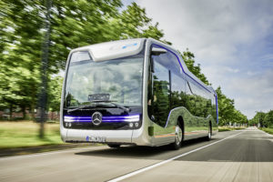 Der Future Bus, Mercedes-Benz Citaro NGT und Setra S 519 HD sind auf der FIAA 2017 in Madrid.    The Future Bus, Mercedes-Benz Citaro NGT and Setra S 519 HD are at the FIAA 2017 in Madrid.